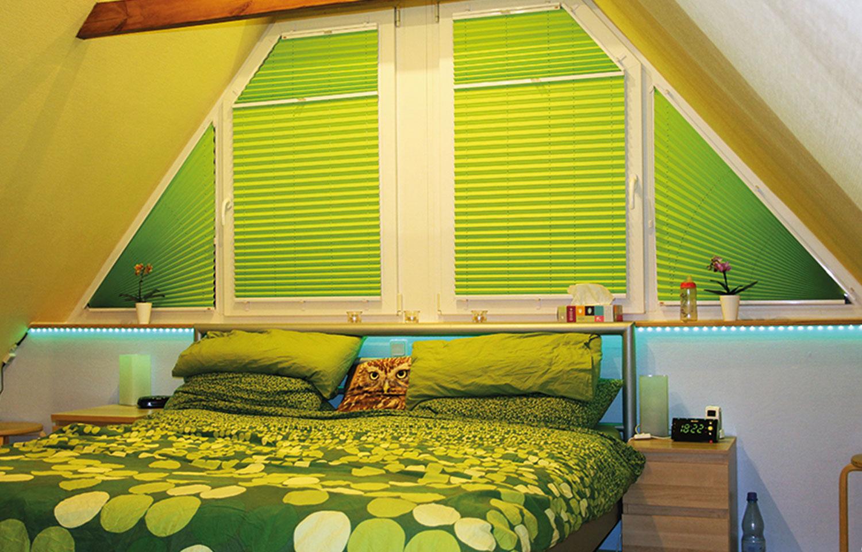 schlaff rdernde plissee verdunkelung am schlafzimmerfenster